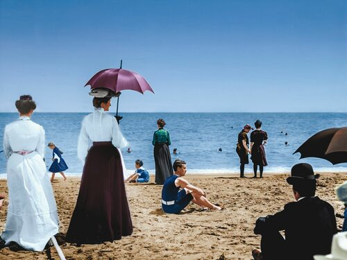 1906 ON THE BEACH FLORIDA - MARIE-LOU CHATEL - Photographie