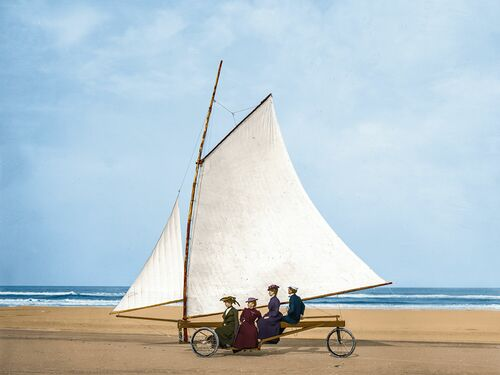 1910 SAILING ON THE BEACH FLORIDA - MARIE-LOU CHATEL - Fotografie