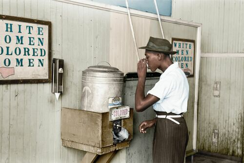 1939 MAN DRINKING OKLAHOMA - MARIE-LOU CHATEL - Fotografie