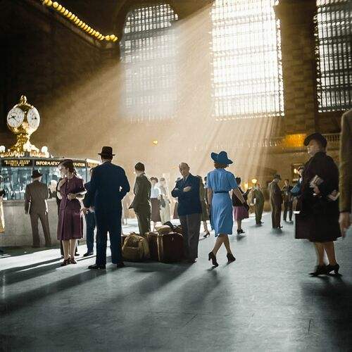 1941 GRAND CENTRAL TERMINAL NYC - MARIE-LOU CHATEL - Photographie