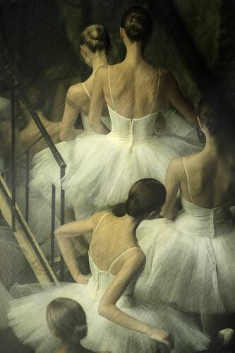 Line of Ballerinas - MARK OLICH - Fotografía