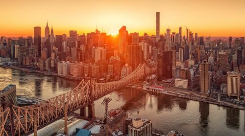 QUEENSBORO BRIDGE SUNSET - MATTHIAS HAKER - Photograph