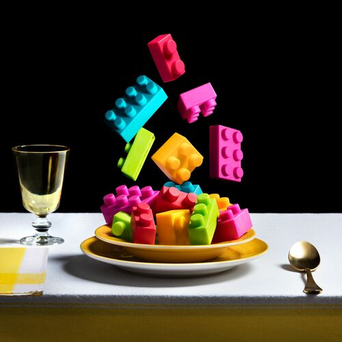 COLORED BUILDING PARTS SOUP - MIGUEL VALLINAS - Photograph