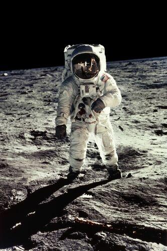 E.Aldrin, Apollo 11 - NEIL ARMSTRONG - Kunstfoto