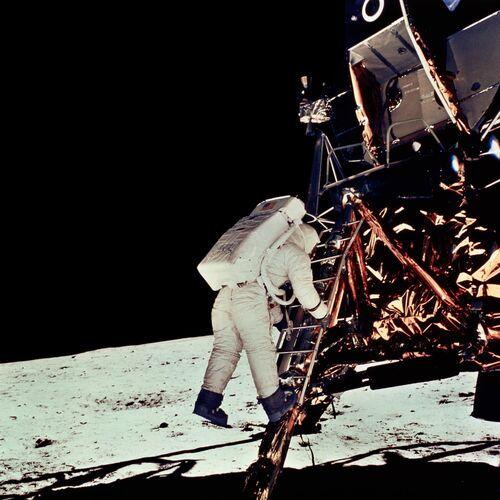 Module lunaire Eagle - NEIL ARMSTRONG - Kunstfoto