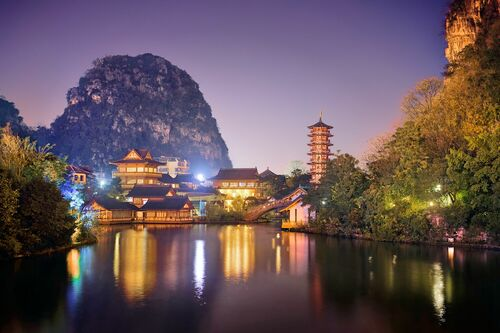 PAGODA AT NIGHT - NICOLAS JACQUET - Photograph