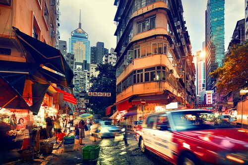 Wan Chai at Dusk - NICOLAS JACQUET - Kunstfoto