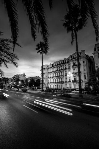 Street Light Trails, Nice - Onur Yaldiz - Photograph