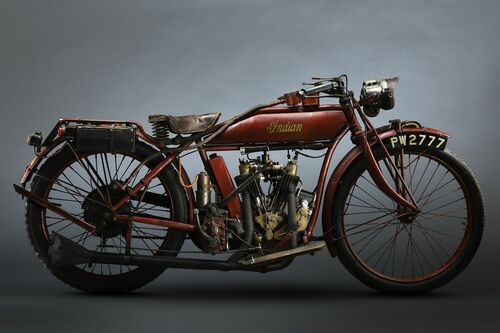 1915 INDIA V TWIN - PAUL CLIFTON - Photograph