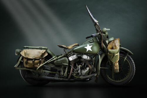 1942 HARLEY DAVIDSON WLA - PAUL CLIFTON - Photograph