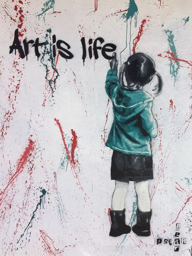 ART IS LIFE LOS ANGELES - POLAR BEAR - Kunstfoto