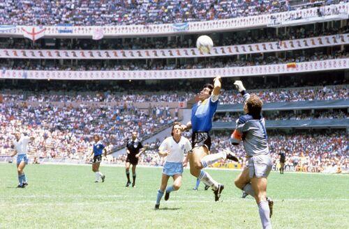 La main de dieu, Mexico 1986 - PRESSE SPORTS L'EQUIPE - Photographie