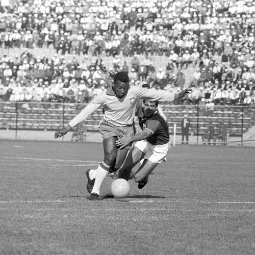 PELÉ, CHILI 1962 - PRESSE SPORTS L'EQUIPE - Photographie