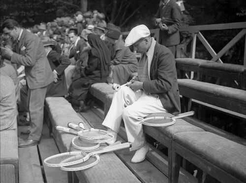 RENÉ LACOSTE, COUPE DAVIS 1927 - PRESSE SPORTS L'EQUIPE - Kunstfoto