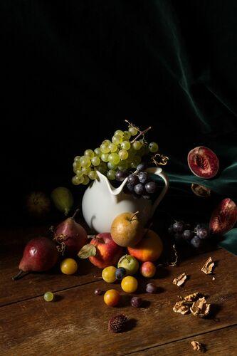 COMPOSITION D AUTOMNE - RENARDS GOURMETS - Photographie