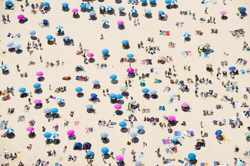 BEACH PEOPLE - RICHARD HIRST - Kunstfoto