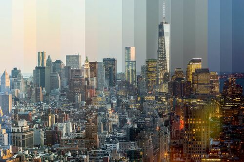New york time slice - RICHARD SILVER - Kunstfoto