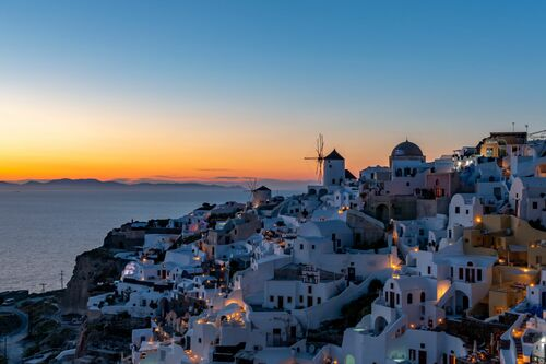 SANTORINI SUNSET GREECE - RICHARD SILVER - Kunstfoto