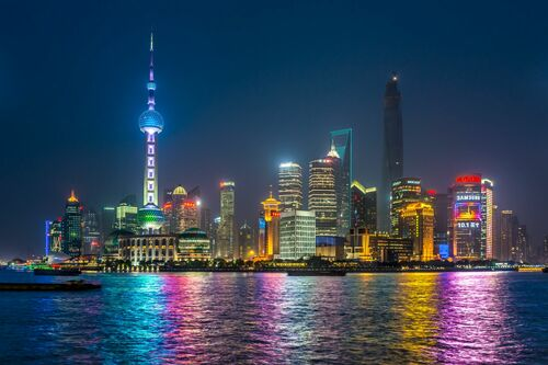 SHANGHAI NIGHTTIME II - RICHARD SILVER - Photograph