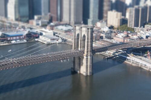 Tilt Shift Brooklyn Bridge - RICHARD SILVER - Photograph