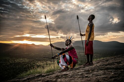 SAMBURU WARRIORS - RODNEY BURSIEL - Kunstfoto