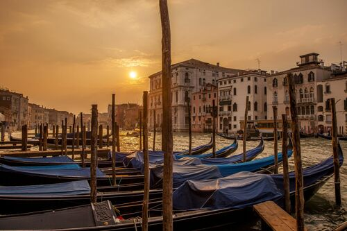 GRAND CANAL ORANGE SUNSET