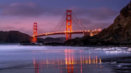 THE GOLDEN GATE BRIDGE SNOW - SERGE RAMELLI - Kunstfoto