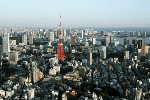 TOKYO SKYLINE - THIBAUD POIRIER - Kunstfoto
