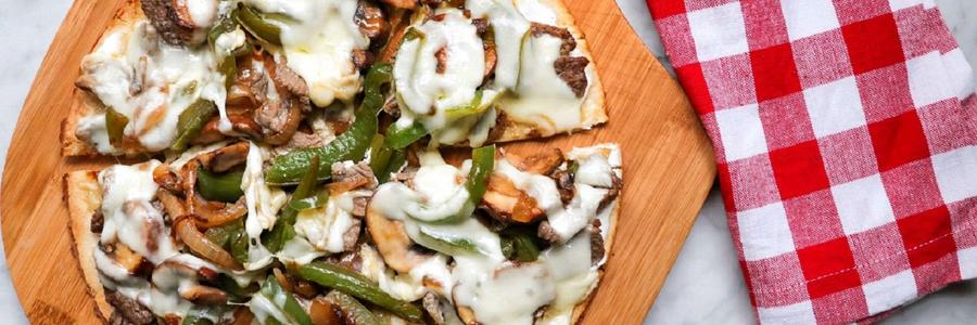 Keto Philly Cheesesteak Pizza