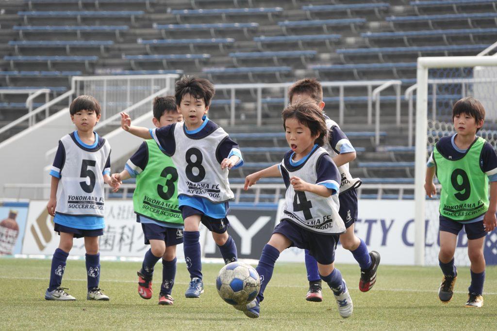横浜FCサッカースクール前座試合&スクール卒業式