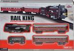 18 Parça Klasik Ekspres Tren Set (Rail King) Raylı Vagonlu Oyuncak Tren-19033-7