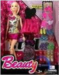 Barbie Sonsuz Hareket Tarzı Yedek Elbiseli Çok Aksesuarlı Bebek