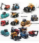 Birlik Oyuncak Alloy Model 1:64 Ölçek 6'Lı İnşaat Araçları Ve İş Makineleri Oyun Seti