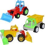 Can Oyuncak Kamyon Dozer Traktör Üçlü Set