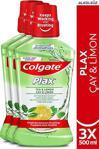 Colgate Plax Çay Ve Limon 500 Ml 3 Adet Gargara