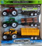 Emr Süper Farm Modern Design Traktör Oyuncak 3\'lü Set