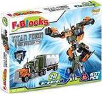 F-Blocks Heroes Seri Robot ve Tır 2 iN 1 Lego Seti 607 Parça FR37