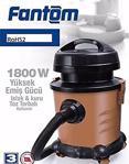 Fantom Eco Wd 10-1 Rohs2 Hıgh Suctıon Power 1800 W Islak Kuru Süpürge Siyah
