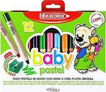 Fibracolor Baby Pastel 1+ Yaş Bebekler İçin Kalın Pastel Kalem 12
