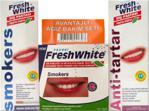 Fresh White Diş Tozu + Diş Pastası 3'Lü Diş Beyazlatma Avantajlı Set