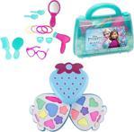 Frozen Oyuncak Güzellik Çantası + İkili Makyaj Seti - Evcilik Oyuncak - Kız Oyuncak