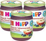 Hipp Organik Yabanmersinli Elma Püresi 125 gr 3'lü Kavanoz Maması