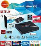 Hiremco Nitro X3 S905X3 Android Tv Box4K IP-HD -Dahili Wi-Fi
