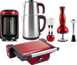 Karaca 4'Lü Hatır Hüp Kahve Makineli Kırmızı Elektrikli Çeyiz Seti