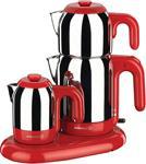 Korkmaz A353-01 Mia Kırmızı Inox Çay Kahve Makinesi