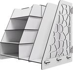 Kuk Design Voronoi Masaüstü Organizer Düzenleyici A4 Evrak Rafı Beyaz