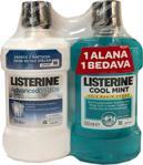 Listerine Advanced White 250 ml + Cool Mint 250 ml Gargara