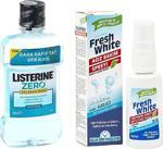 Listerine Alkolsüz Ağız Çalkalama Suyu + Ağız Kokusu Giderici Önleyici Sprey