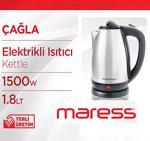 Maress Çağla 1500 W 1.8 Lt Çelik Kettle