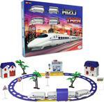 Mega Pilli Işıklı Sesli 24 Parça Oyuncak Yüksek Hızlı Tren Seti